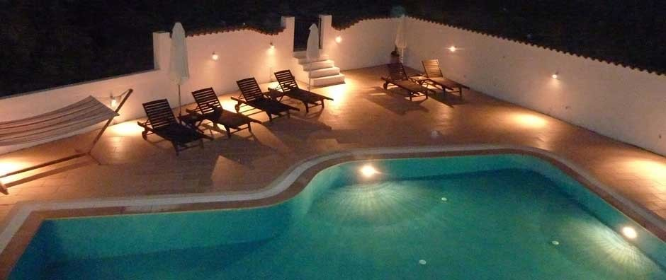 Villa Linakis Private Pool By Night